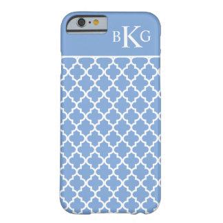 Modelo y monograma marroquíes azules funda de iPhone 6 barely there