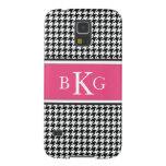 Modelo y monograma rosados blancos negros de Hound Carcasa Para Galaxy S5