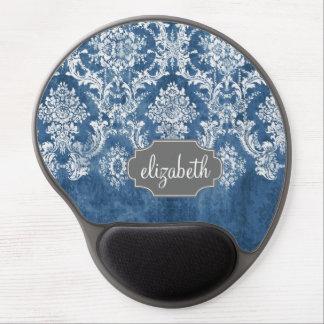 Modelo y nombre azules del damasco del vintage del alfombrillas con gel