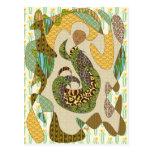 Modelos abstractos del animal del ejemplo de la ma tarjetas postales