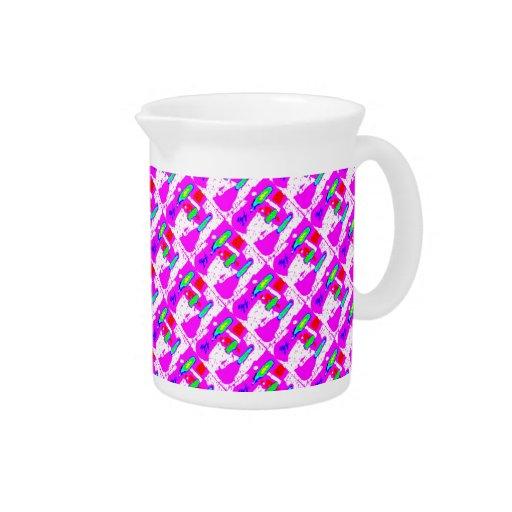 Modelos abstractos rosados dispersados jarra
