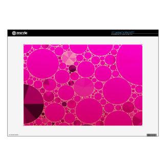 Modelos abstractos rosados fluorescentes 38,1cm portátil calcomanía
