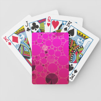 Modelos abstractos rosados fluorescentes baraja de cartas bicycle