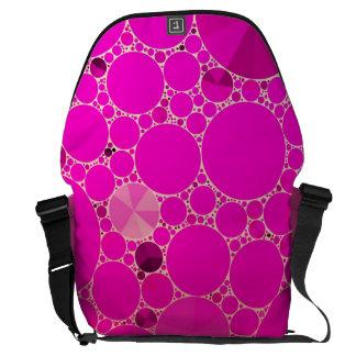 Modelos abstractos rosados fluorescentes bolsa messenger