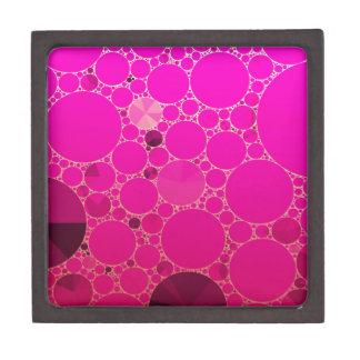 Modelos abstractos rosados fluorescentes caja de recuerdo de calidad