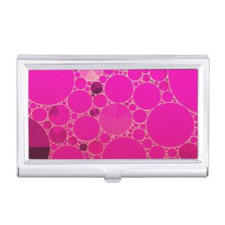 Modelos abstractos rosados fluorescentes caja de tarjetas de visita