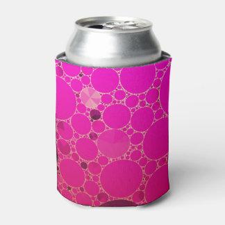 Modelos abstractos rosados fluorescentes enfriador de latas