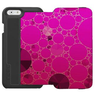 Modelos abstractos rosados fluorescentes funda billetera para iPhone 6 watson