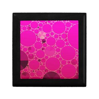 Modelos abstractos rosados fluorescentes joyero cuadrado pequeño
