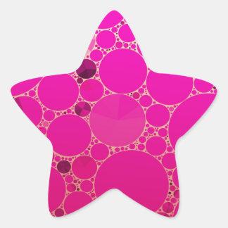 Modelos abstractos rosados fluorescentes pegatina en forma de estrella