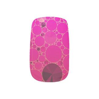 Modelos abstractos rosados fluorescentes pegatina para manicura