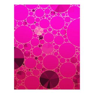 Modelos abstractos rosados fluorescentes plantillas de membrete