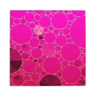 Modelos abstractos rosados fluorescentes posavasos de arce
