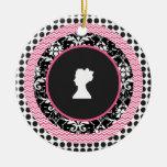 Modelos acodados rosados y negros del rosa y del adorno para reyes