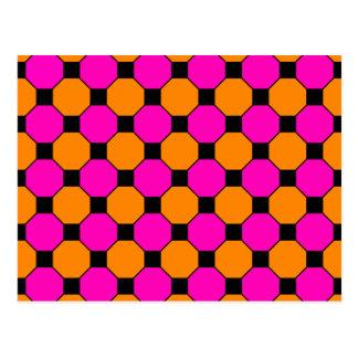 Modelos anaranjados de los hexágonos de las postales