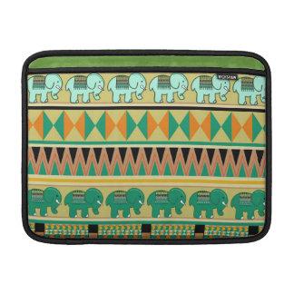 Modelos aztecas con la pequeña manga de los elefan fundas para macbook air