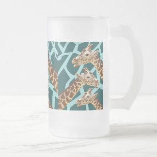 Modelos azules del animal salvaje del trullo jarra de cerveza esmerilada