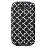 Modelos blancos y negros de Quatrefoil Galaxy S3 Cárcasa