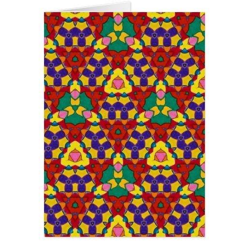 Modelos brillantes del color en tarjetas de felici