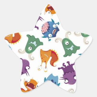 Modelos coloridos de la diversión loca de los pegatina en forma de estrella