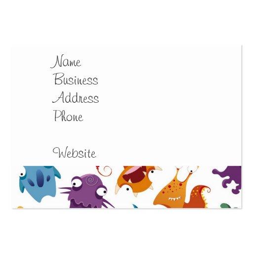 Modelos coloridos de la diversión loca de los tarjetas de visita grandes