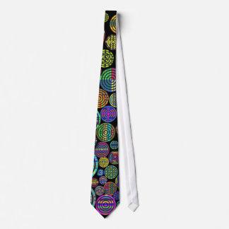 Modelos coloridos de los círculos en lazo negro corbatas