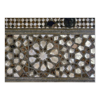 Modelos de cristal en las paredes invitación 12,7 x 17,8 cm