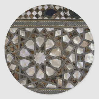 Modelos de cristal en las paredes pegatina redonda
