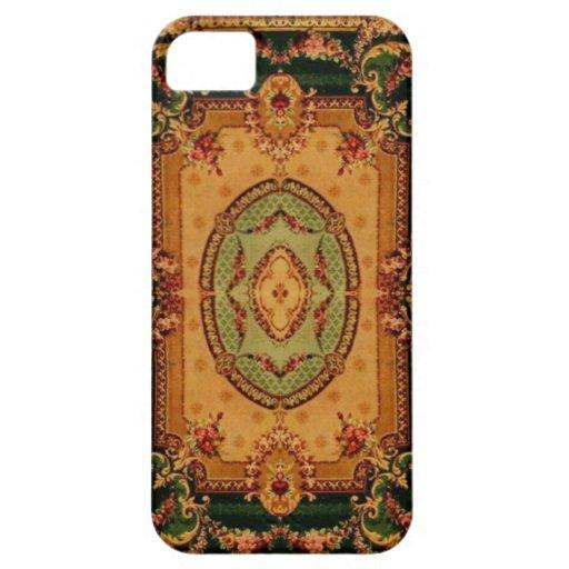 Modelos de la alfombra del vintage: Axminster 3421 iPhone 5 Case-Mate Protectores