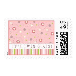 Modelos de la diversión en franqueo rosado de la f timbre postal
