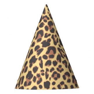 Modelos de la piel animal del estampado leopardo gorro de fiesta
