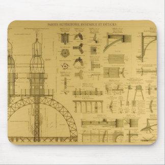 Modelos de la torre Eiffel Alfombrillas De Raton