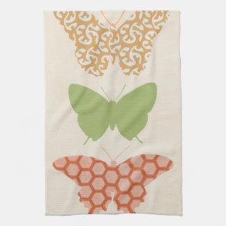 Modelos de mariposa decorativos en el fondo poner toallas de mano