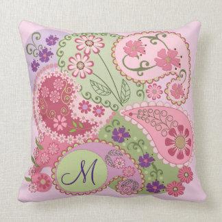 Modelos de Paisley, flores y almohada de encargo d
