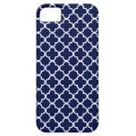 Modelos de Quatrefoil de los azules marinos y del  iPhone 5 Case-Mate Cárcasa