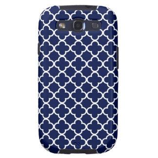 Modelos de Quatrefoil de los azules marinos y del  Galaxy S3 Cobertura