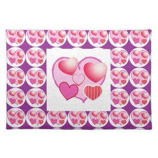 Modelos del amor: Tema rosado Manteles Individuales