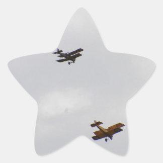 Modelos del camello de SE5A y de Sopwith Pegatina En Forma De Estrella