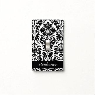 Modelos elegantes del damasco con blanco y negro tapa para interruptor