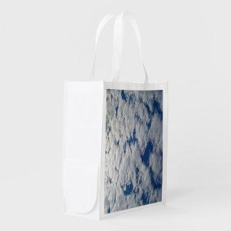 Modelos en el cielo bolsa reutilizable