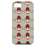 Modelos felices sonrientes del mono rojo del calce iPhone 5 Case-Mate protector