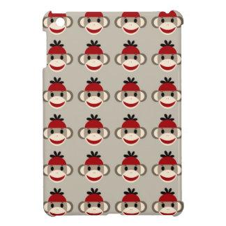 Modelos felices sonrientes del mono rojo del calce iPad mini cárcasas