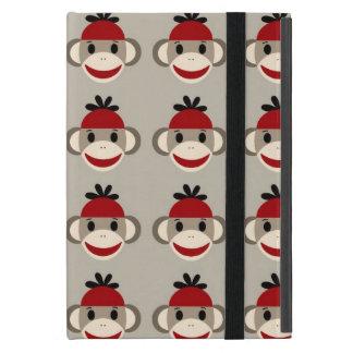 Modelos felices sonrientes del mono rojo del iPad mini funda