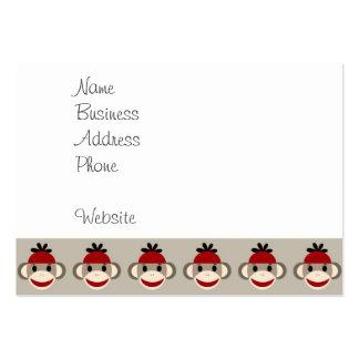 Modelos felices sonrientes del mono rojo del plantilla de tarjeta de visita