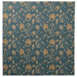 Modelos florecientes de la flora servilleta de papel