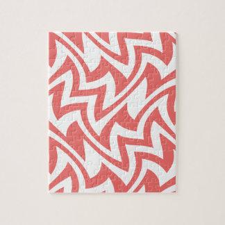 Modelos geométricos abstractos modernos del rosa y rompecabezas con fotos