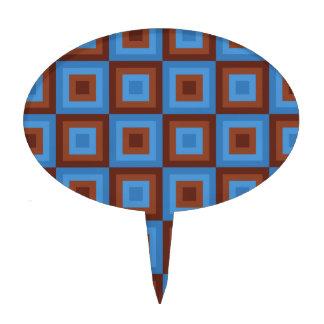 Modelos geométricos azules de Brown Decoraciones De Tartas