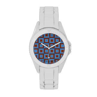 Modelos geométricos azules de Brown Reloj