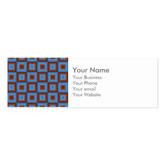 Modelos geométricos azules de Brown Tarjetas De Visita Mini