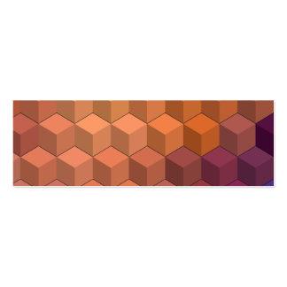 Modelos geométricos cubos púrpuras y anaranjados tarjetas de visita